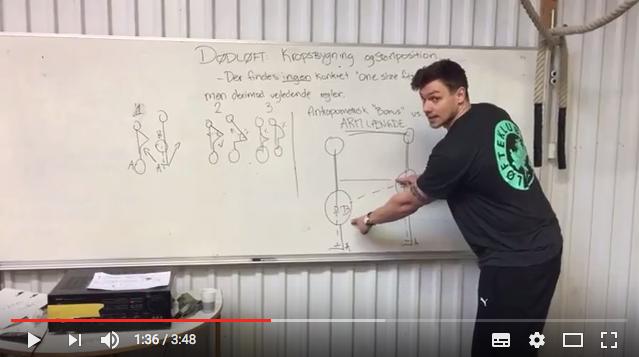 Dødløft – Kropsbygning og Position